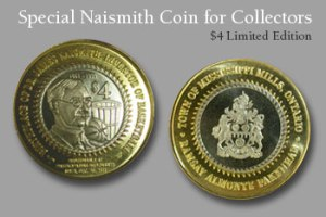 Naismith Basketball coin for sale