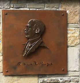 Relief of R. Tait McKenzie Installed Stones Throw from NaismithStatue